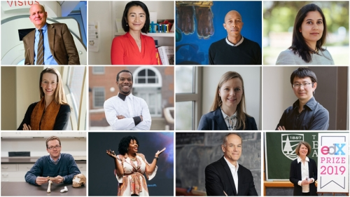 collage of faculty portraits