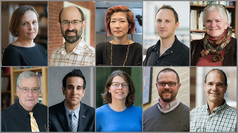 a grid of headshots of the 10 faculty award winners
